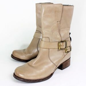 Clarks Monica Soul Taupe Leather Women boots  7.5